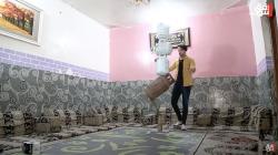 فيديو.. عراقي يبعثر قوانين الطبيعة بمهارة نادرة