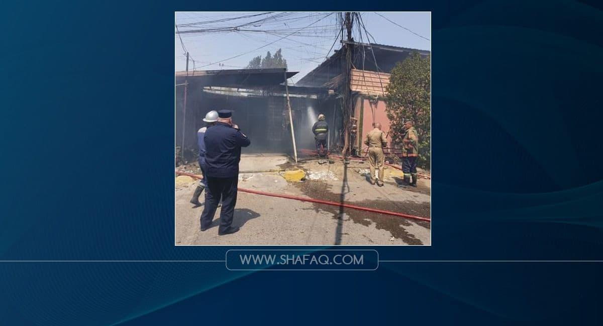 الدفاع المدني يخمد حريقاً في بغداد