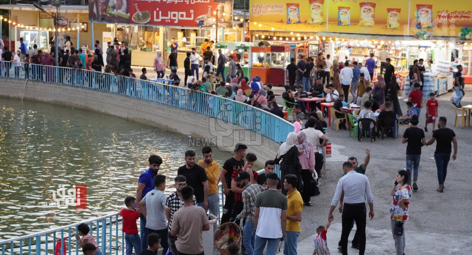 Iraqis visit the Kurdistan region to escape the hot weather