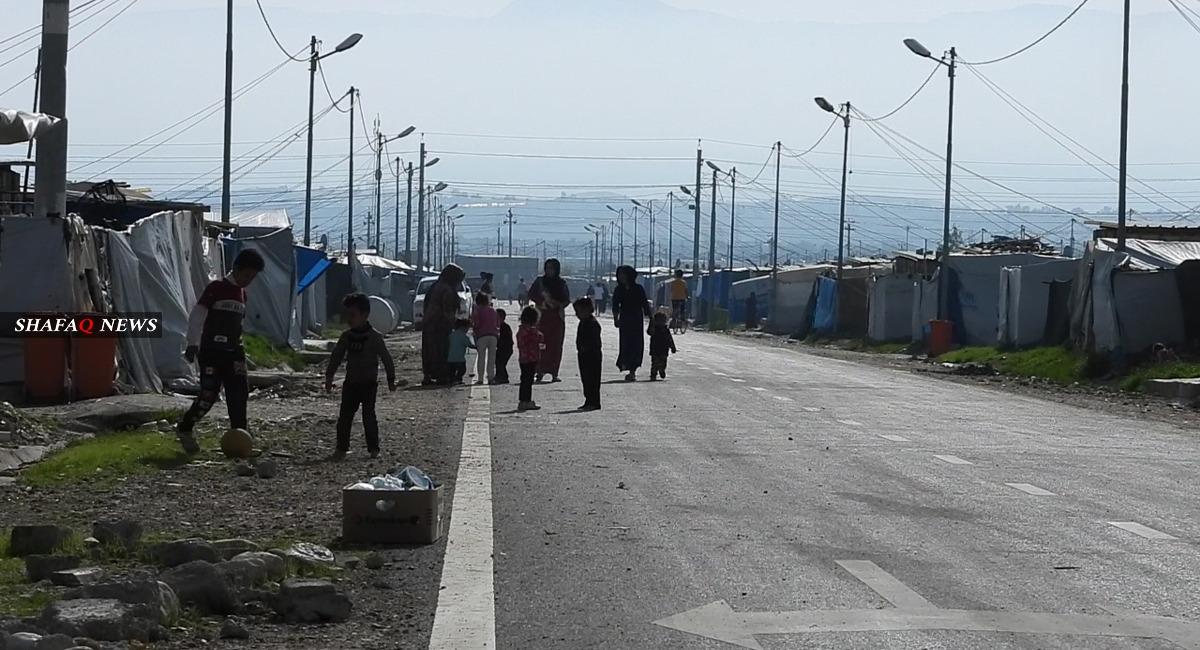 Child dies from a fire in an IDP camp in Kurdistan