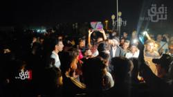 """""""كر وفر"""" في تظاهرة ليلية أمام تقاعد ذي قار"""