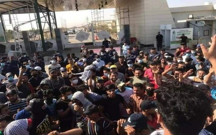 Four protestors arrested for picketing the Dhi Qar Oil Company, fellows demonstrating to release them