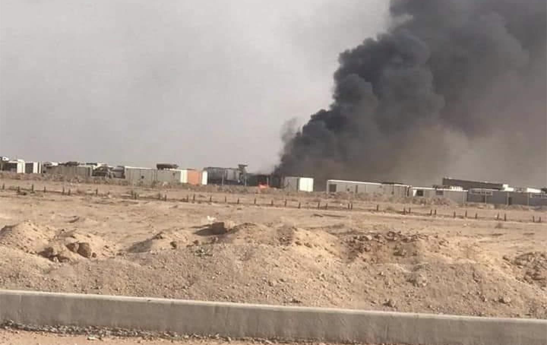 بيان رسمي: قصف جوي مجهول وراء انفجارات النجف (فيديو)