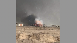 Massive fire breaks out in an armed faction's ammunition depot in Najaf
