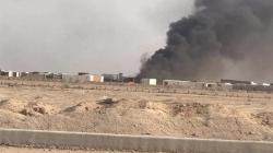 Airstrikes ignited the Imam Ali brigades' ammunition depots fire