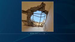 """صور.. سقوط صاروخ على منزل قرب معسكر فرقة """"الإمام علي"""" بالنجف"""