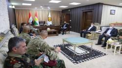 Kurdistan region's Minister of Peshmerga meets a Global Coalition delegation