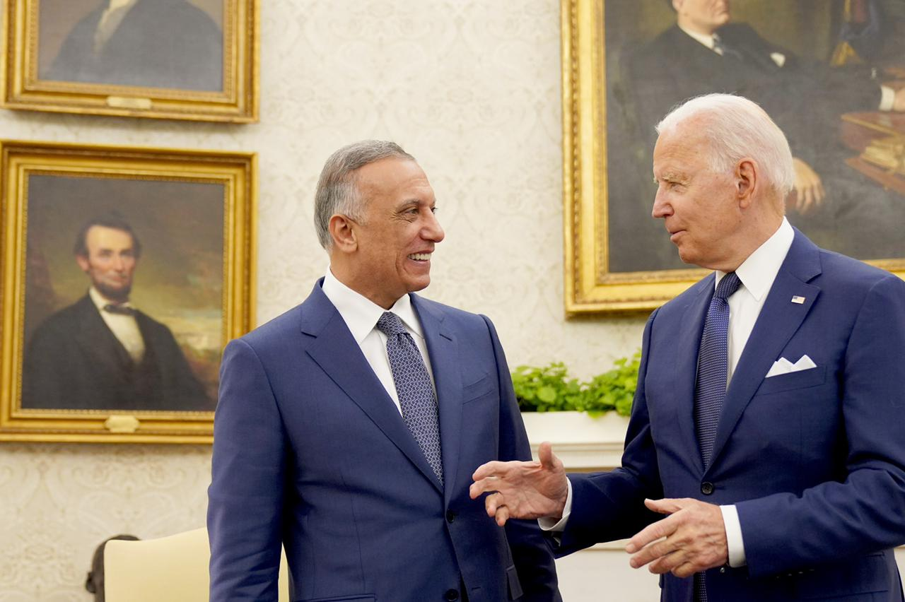 Al-Kazemis office announces the details of his meeting with Biden and sets the date for the official withdrawal of US forces