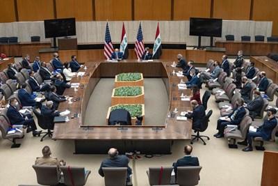 PM Al-Kadhimi and U.S. President Joe Biden seal agreement to end U.S. combat mission in Iraq 1627337054836