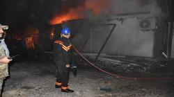 اندلاع حريق في بناية تجارية وسط بغداد