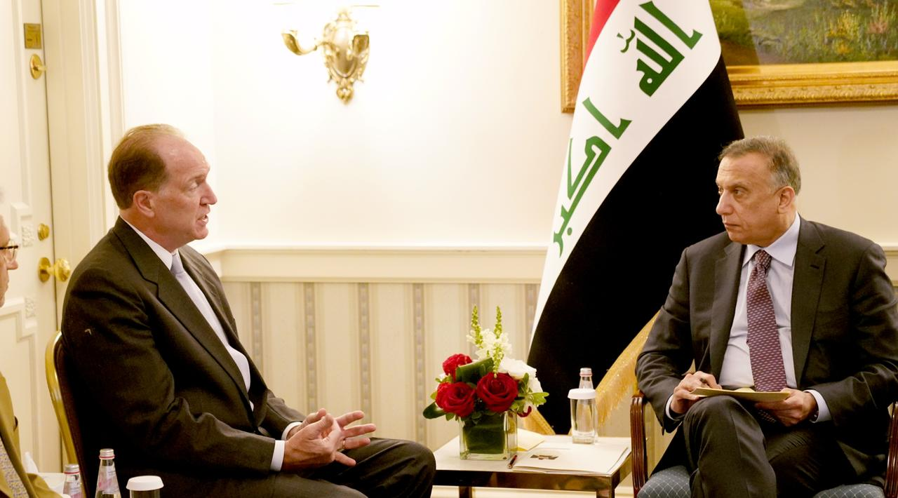 Al-Kadhimi discusses with the President of the World Bank several files of mutual interest 1627422452244