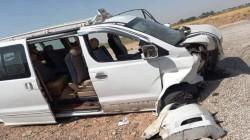 مصرع ضابط بالدفاع واثنين من اطفاله واصابة زوجته بحادث جنوبي العراق