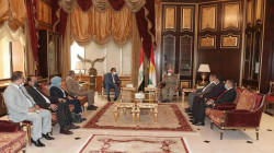 Masoud Barzani discusses the upcoming elections with a delegation of the Iraqi al-Ummah Party