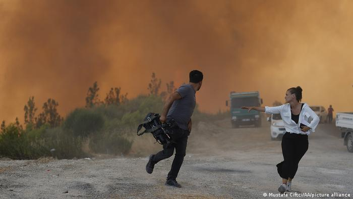 Turkey slow down before accusing PKK of setting fire in the forests