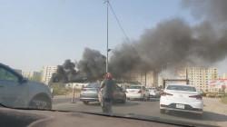 حريق قرب مجمع بسماية ببغداد والدفاع المدني تدفع بتعزيزات لإخماده