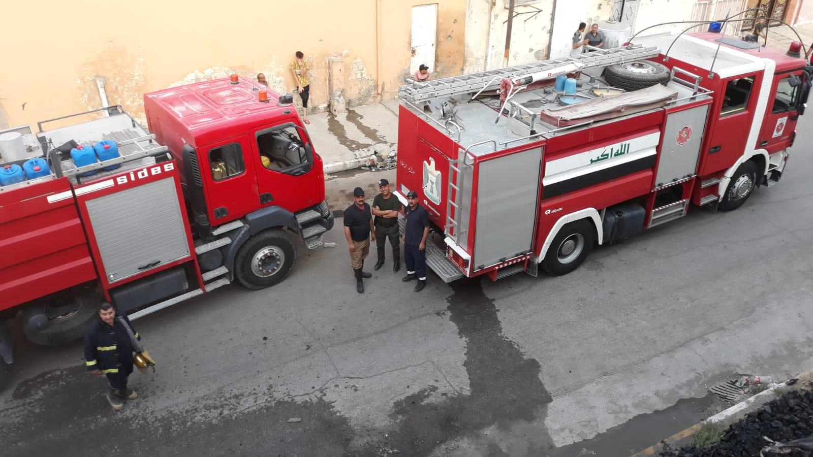 Fire broke out in a hospital in Nineveh
