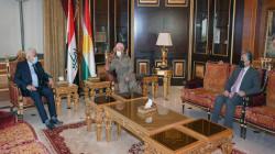 Kurdish leader, Masoud Barzani meets with the head of PMF