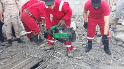 إنهيار سقف محل قيد الإنشاء في الموصل على عاملي بناء (صور)