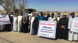 مزارعو ديالى يتظاهرون احتجاجا على تأخر مستحقات تسويق الحنطة