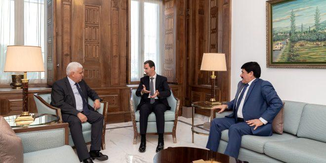 الأسد يتلقى رسالة من الكاظمي بشأن قمة بغداد