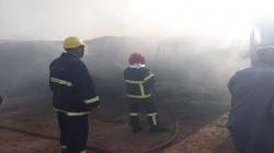 اندلاع حادث حريق داخل سوق الشعلة و15 فرقة إطفاء تكافح النيران