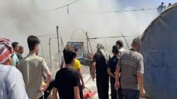 اندلاع حريق في مخيم للنازحين بدهوك