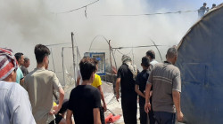 Fire broke out in an IDP camp in Duhok