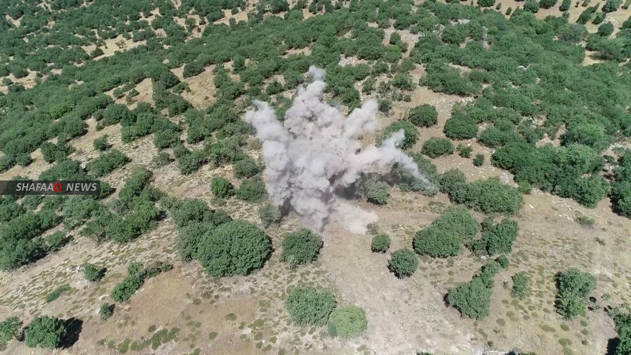 Turkish airstrikes on PKK sites in the north of Duhok