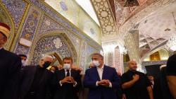 صور.. الكاظمي وماكرون يزوران الكاظمية
