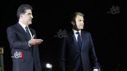 President Macron lands in Erbil