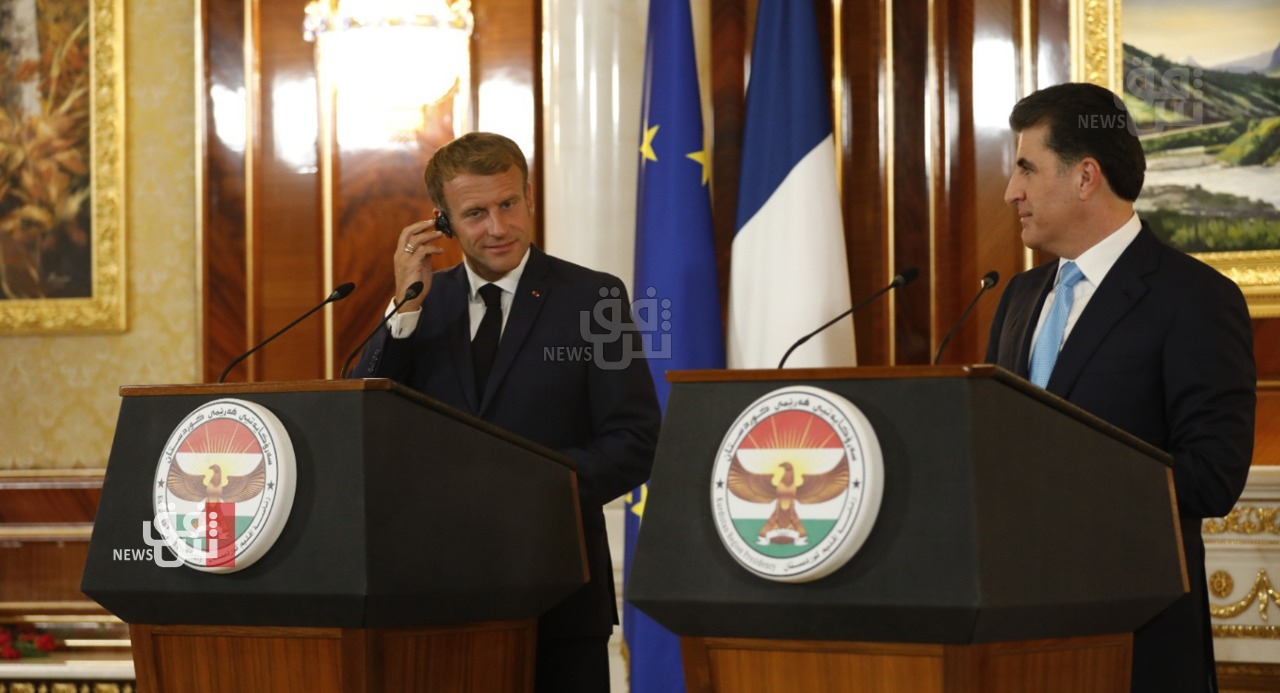 President Barzani: President Macron's visit supports the democratic process in Iraq