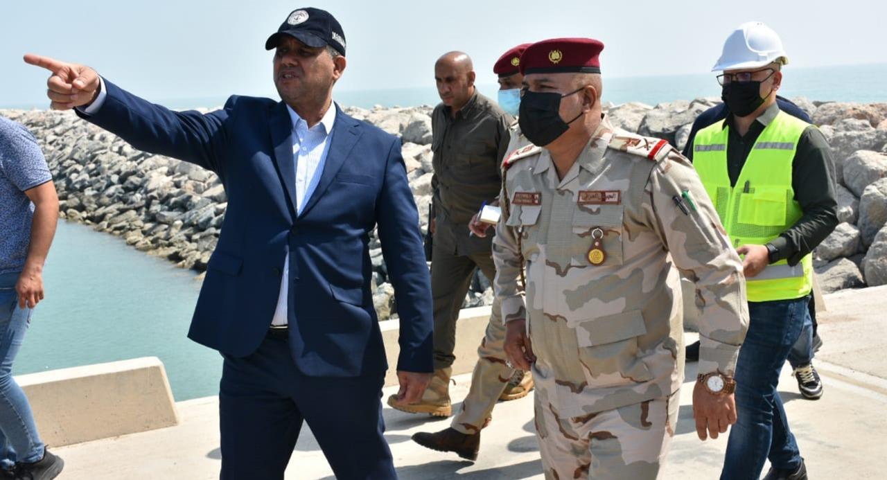 Basra operations commander visits al-Faw port