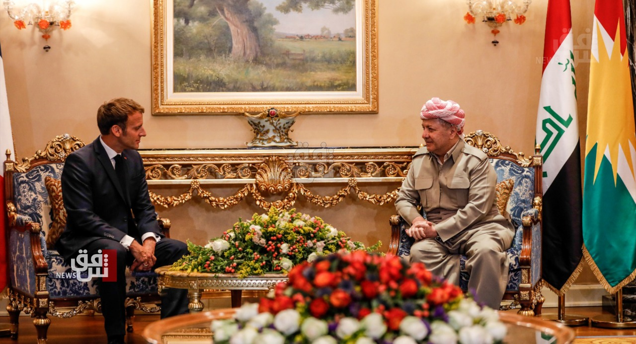 Leader Masoud Barzani discusses with the French President several issues of mutual interest