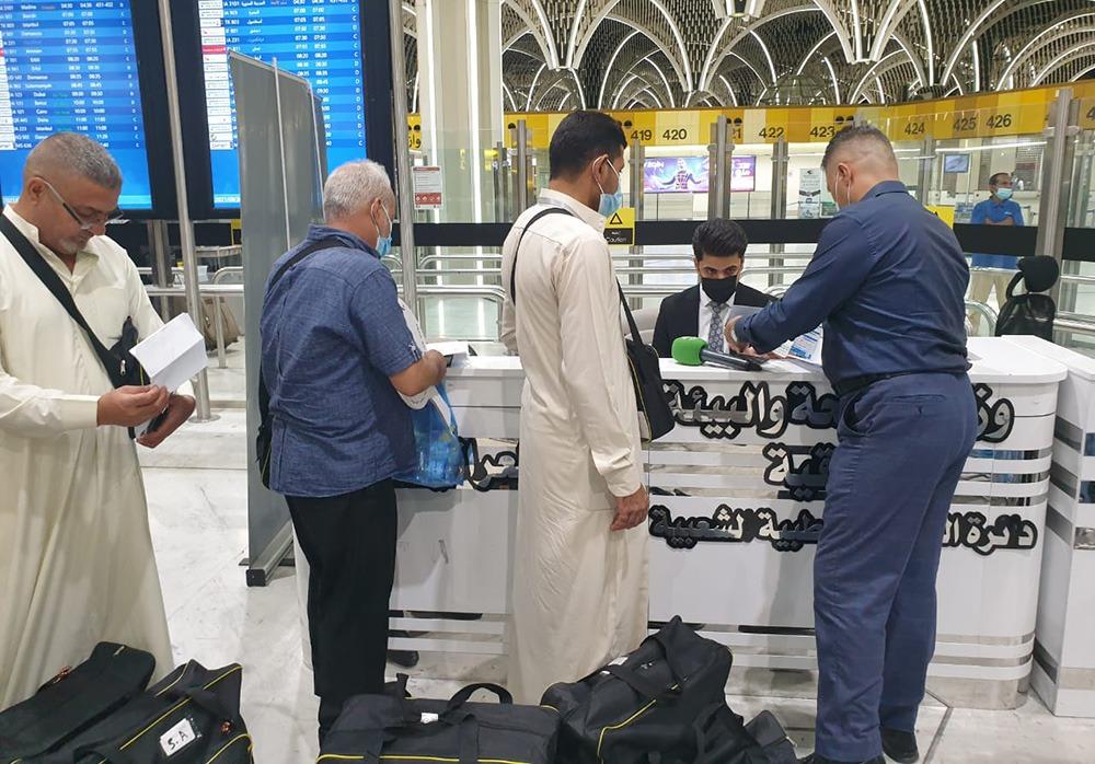 بعد انقطاع لعامين.. انطلاق أولى رحلات المعتمرين عراقيين جواً نحو السعودية