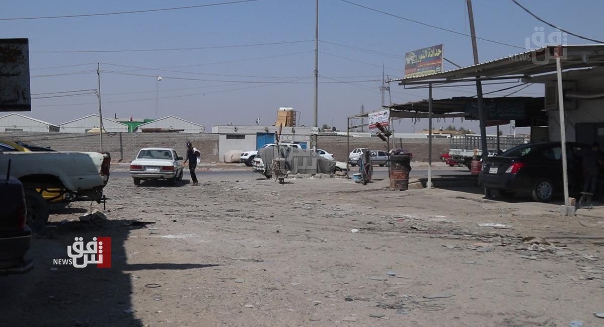صور.. الحي الصناعي في الموصل يغرق بالوحل منذ عقد
