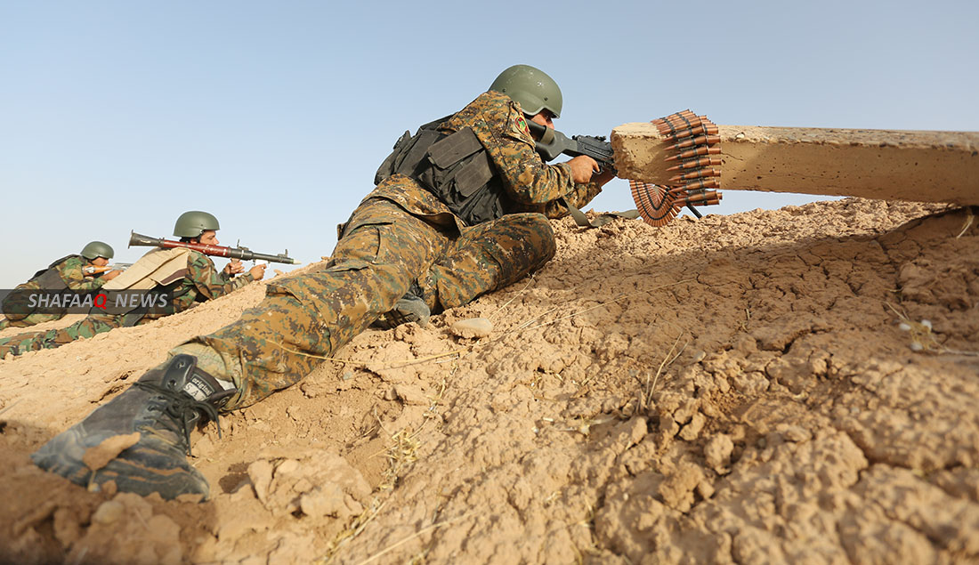PMF fighter injured in an ISIS attack in Saladin