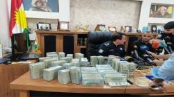 شرطة دهوك تستعيد 2.6 مليون دولار و4 كيلوغرامات ذهب سرقت من منزل تاجر