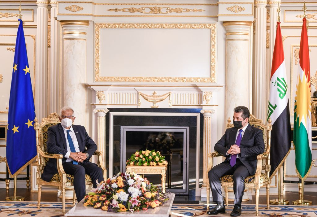Borrell to PM Barzani: Kurdistan is pivotal to the Middle East's stability 1631034692410