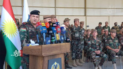 The US-led Coalition hand over military equipment and vehicles to the Peshmerga