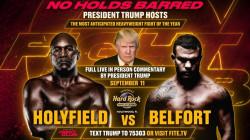في بث مباشر.. ترامب يعلق رياضياً على سلسلة مباريات ملاكمة