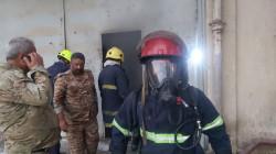 حريق يأتي على مخزن لشركة الجلود وسط بغداد.. صور