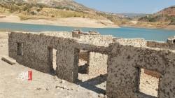 Duhok dam's water decreases by half