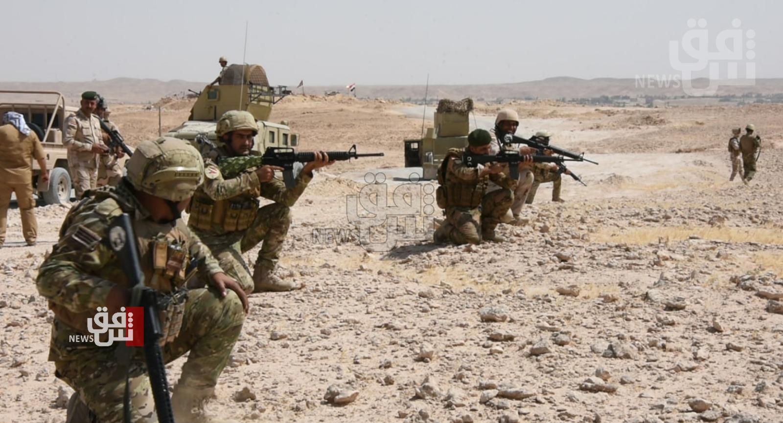 اصابة 3 عناصر من الحشد بهجوم لداعش في الأنبار
