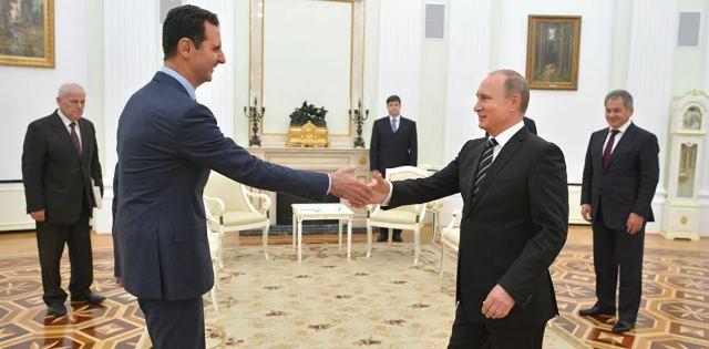 بوتين يستقبل الأسد في الكرملين: السوريون يثقون بك