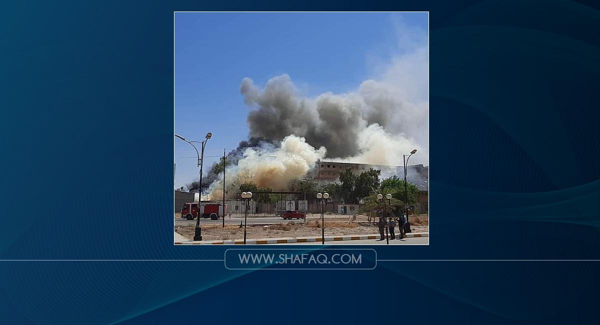 اخماد حريق قرب شركة الادوية في سامراء