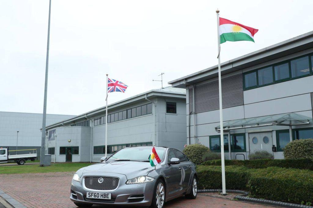 The President of the Kurdistan Region arrives in London.. Photos