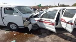 مصرع ثلاثة أشخاص وإصابة أثنين بجروح بحادثين جنوبي العراق .. صور
