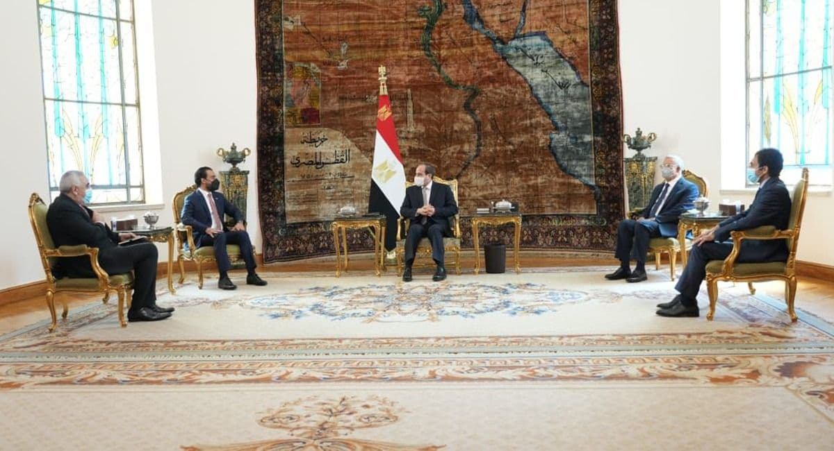 Al-Halboosi discusses with the Egyptian President the latest update on the Arab arena