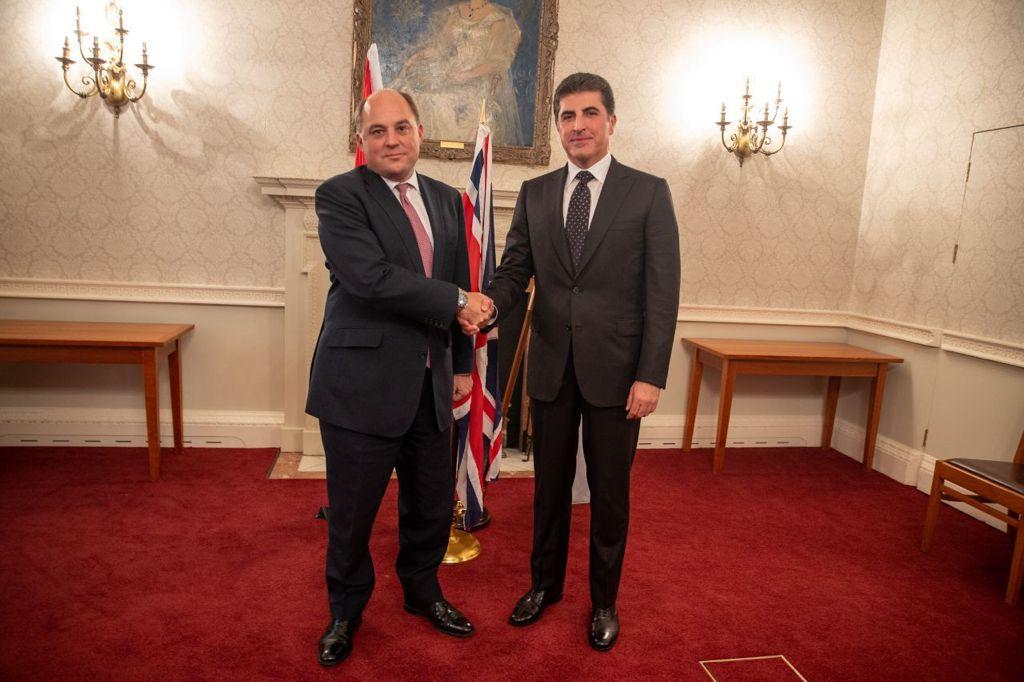 President Barzani meets with the British British Defense Minister