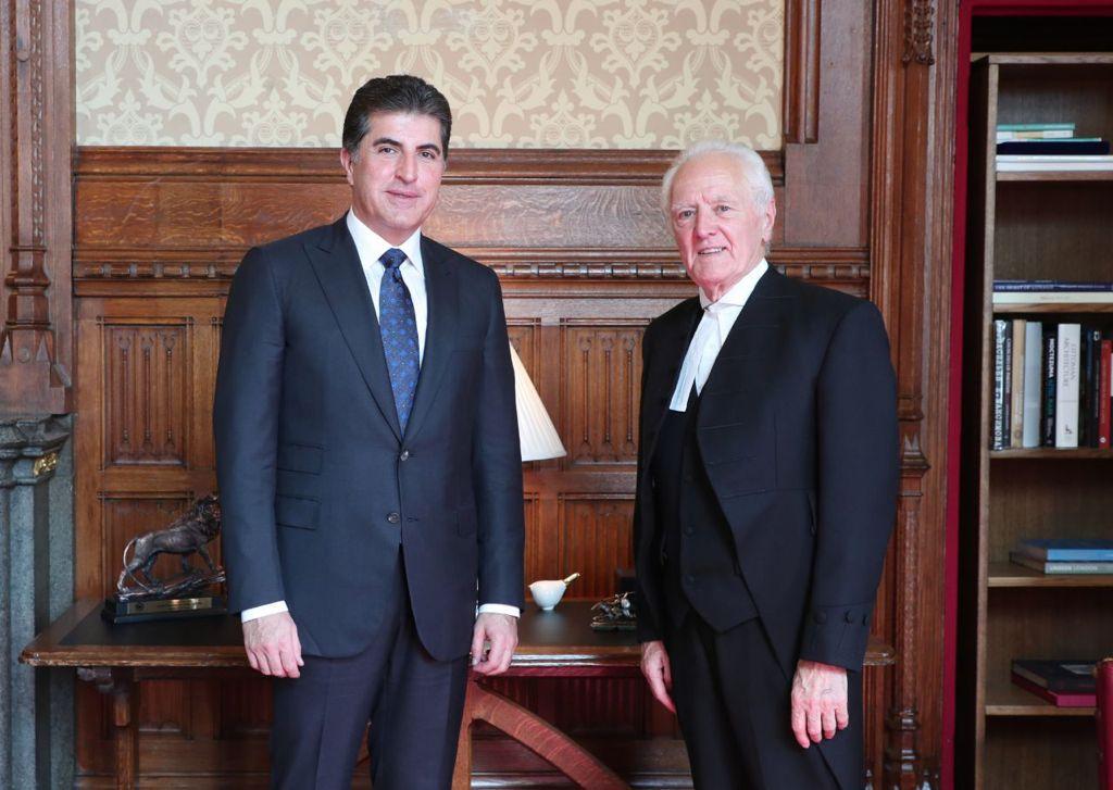 President Barzani meets UK's House of Lords Speaker